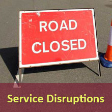 Service Disruption and Road Closure Information Affecting Compass Travel Bus and Coach Services