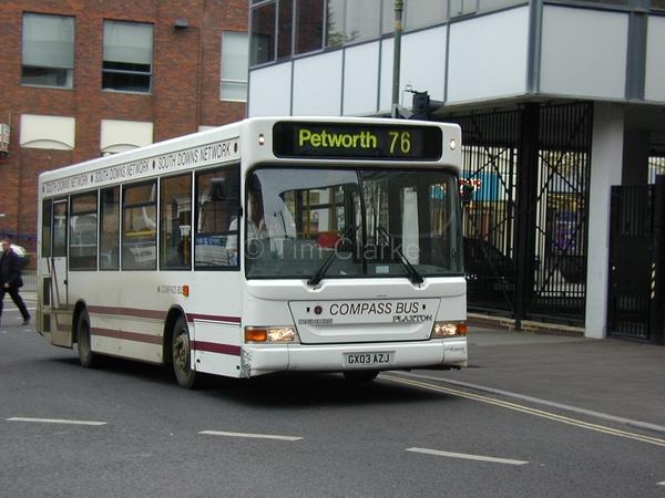 Transbus Dart GX03AZJ o ld Compass livery