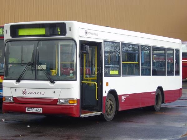 Transbus Dart GX03AZJ i new Compass livery