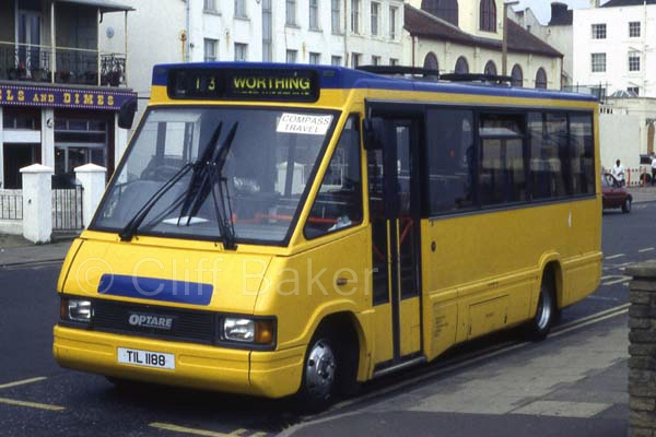 Optare MetroRider N275DWY as delivered as TIL1188 at Worthing Pier.