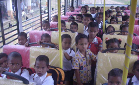 Compass Charity Children on a Bus