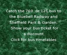 Take a Compass bus to Sheffield Park and garden