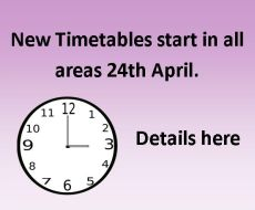 New Timetables