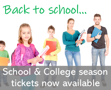 School and College Season Tickets now available